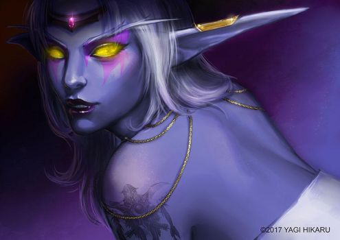 Queen Azshara_Light of a Thousand Moons by yagihikaru