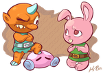 Legend of Zelda A Link to the Past Bully + Bunny by kevinbolk