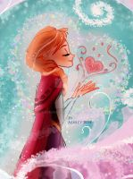 Princess Anna from Frozen by bohgirl11