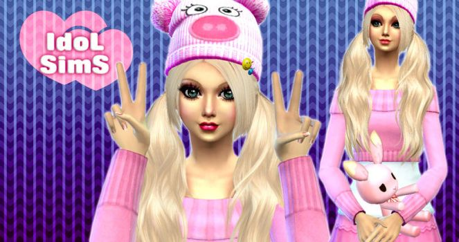 Wallpaper idolsims pink girl by RainboWxMikA
