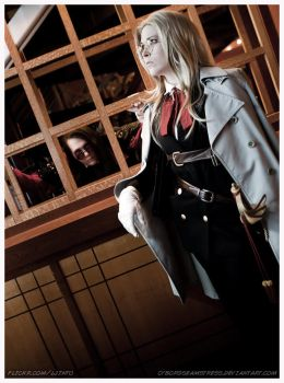 Integra Hellsing Cosplay by cyborgseamstress