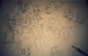 FNaF Doodles by Xaika