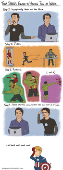 Avengers: Tony and Bruce by Phageous
