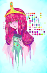 Princess Bubblegum et Beemo by AlisonOT
