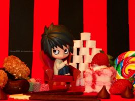 L loves sweets by Bimmi1111