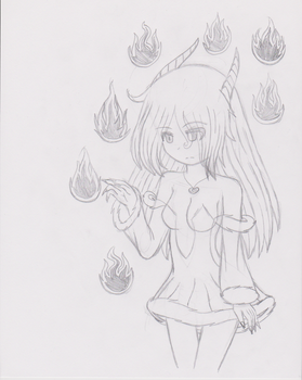 demon Cymbel with the 7 deadly sins flames by CymbelWings22