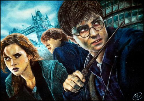 Harry Potter [Coloured Pencil Portrait Drawing] by HangNgaLePhan