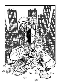 Deathstroke Inks by thedavemyers