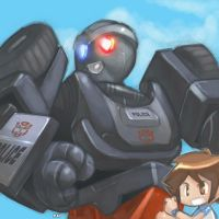 Prowl-bot and Daniel by dyemooch