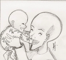 Megamind and MiniM - Laughing by Arika27