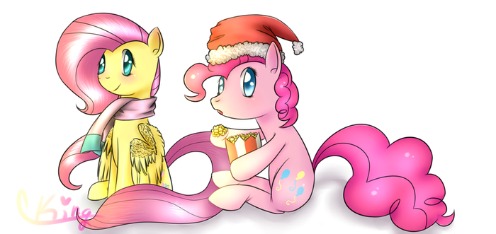 Merry Christmas from Pinkie Pie and Fluttershy by Pinkie321Pie