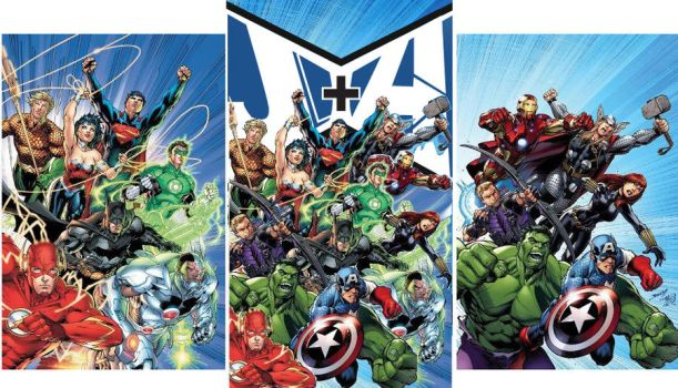 Justice League + Avengers by pinoyavenger