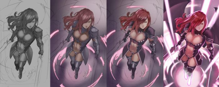 Erza WIP by Blue-Memo