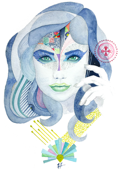 Womanly Vision 9 by SteveHeggenAquarelle