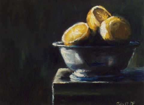Oranges In Bowl by mp2015