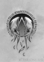 Assassin's Creed Logo Tattoo Commission by kerae