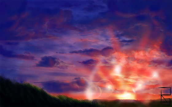 Screen for a game:Sunset by Cinderell-o