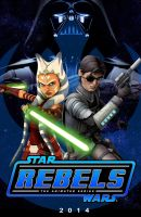 Ahsoka and Lux (Star Wars Rebels Concept Poster) by Brian-Snook