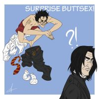 Surprise Buttsex by Adrollity