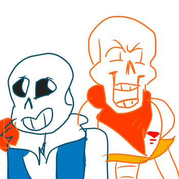 sans and Papyrus  by metal-and-magic