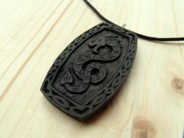 BLACK DRAGON PENDANT by MassoGeppetto