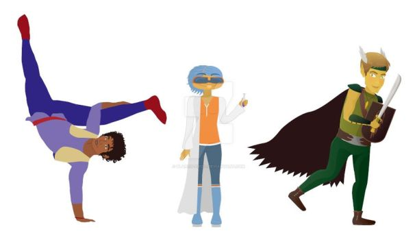 some kind of super heroes by blanco-erizo