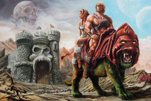 He-Man: The Prophecy Of The Legend / Oil On Canvas by SiMoSol
