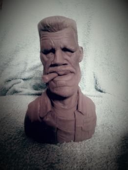Sons Of Anarchy Clay Morrow Caricature WIP by logan250