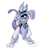 Armored Mewtwo by Bandxoh