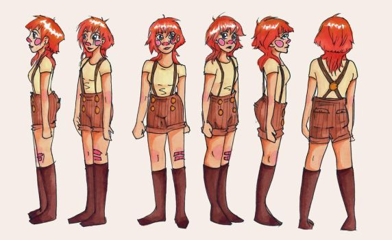 Piper Character Turn around by seraphinagrayson