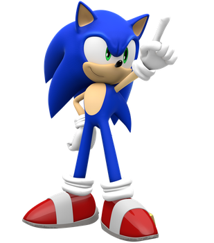 Sonic the Hedgehog Pointing by Pho3nixSFM