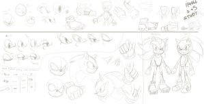 Sonic and Shadow Sketch Study - SAI by BlueNeedle-Inu