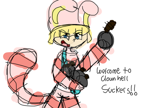 Welcome to clown hell by LilDeathPie