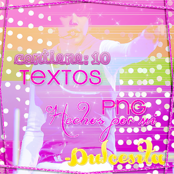 Pack de TEXTOS PNG by Dulcesitaa