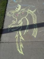 Discord Chalk Drawing by ShowtimeandCoal
