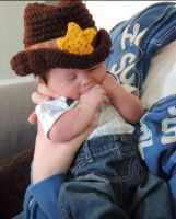 New Sheriff in Town - Sheriff/ Cowboy Hat by CardinalCrocheting