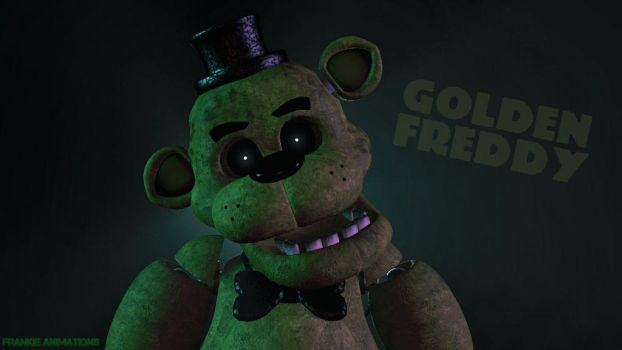 [FNAF/SFM] Golden Freddy Wallpaper by FrankietheBunny2003