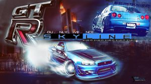 You Only Live Once GTR Skyline by Gabriel-3x