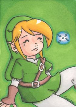 Link sketch aceo by silvereelve