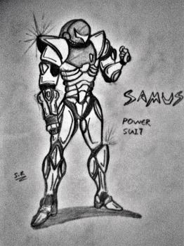 The Power Suited Samus Aran by yolo360nosescope