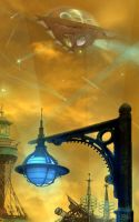 Steampunk city by meluseena