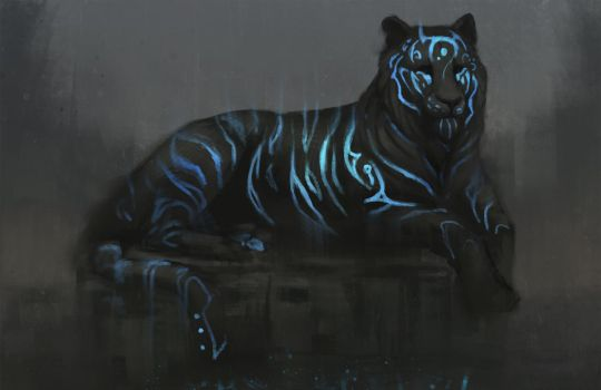 Blue Tiger by JadeMere