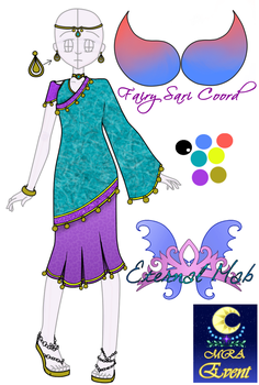 MRA - Fairy Sari Coord - [Event: Round 3] by angelofcryinghearts