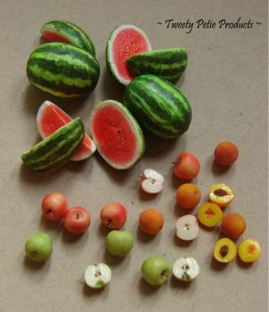 Peaches, Apples, and Watermelon by birdielover