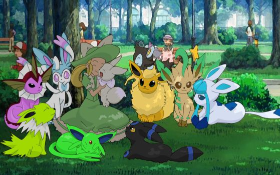 Shiny eeveelutions by dominictati1