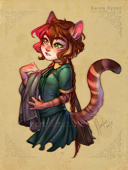 Karen the toyger - Lackadaisy FanOC/art by Amelion