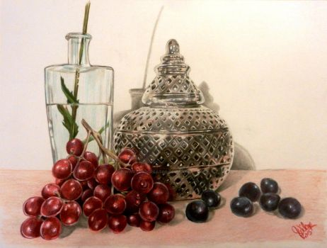 silver and grapes by winstonscreator