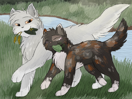 Featherwhisker and Spottedpaw by CascadingSerenity