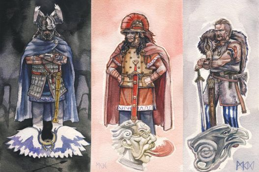 Stone Chieftans by deWitteillustration