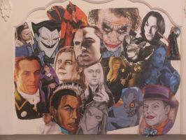 Villains collage by The---Storyteller